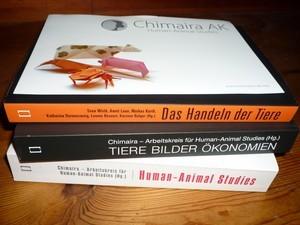 Bücherstapel und Flyer von Chimaira